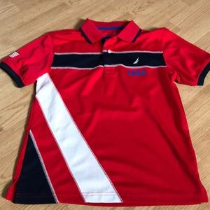 Nautica Boys Polo Tee Shirt Size medium (10-12)